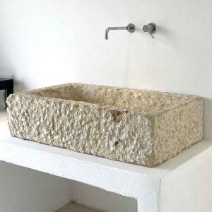 Lavabo Pilozza rettangolare in pietra leccese