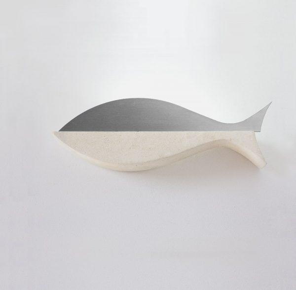Applique acciaio a forma di Pesce