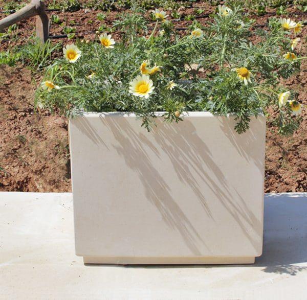 Vaso fioriera Pietra Leccese Fore per esterno