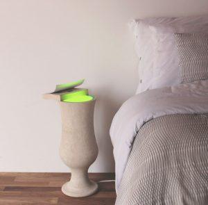 lampada tavolino pietra