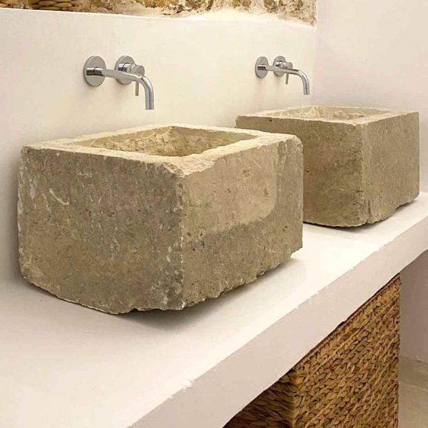 lavabo pilozza in pietra leccese arte povera