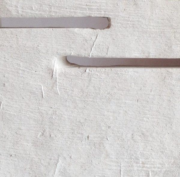 dettagli di lavorazione dell'applique pietra leccese