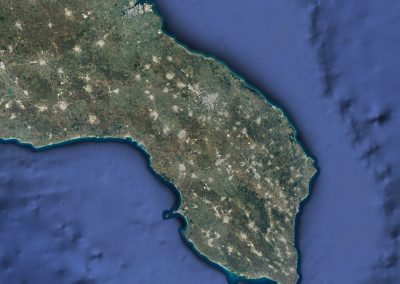 Il Salento visto dal satellite