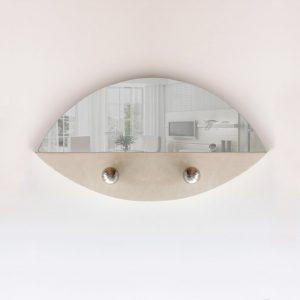 specchio ovale in pietra leccese appendi abiti